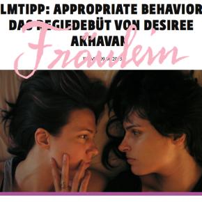 Filmtipp: Appropriate Behavior – Das Regiedebüt von Desiree Akhavan // Fräulein Magazin Online